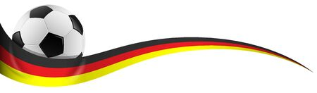 germany flag: football with germany flag