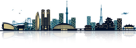 Tokyo Skyline  イラスト・ベクター素材