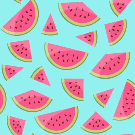 Seamless watermelon pattern background