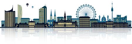 De skyline van Wenen