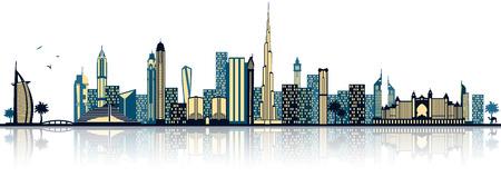 Dubai skyline Иллюстрация