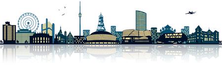 Stuttgart skyline Illustration