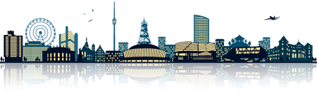 stuttgart: Stuttgart skyline Illustration