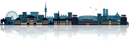 munich skyline Reklamní fotografie - 78897724