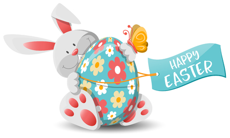 Easter bunny and easter egg Illustration
