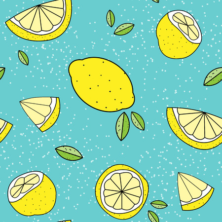 Seamless lemon pattern background 矢量图像
