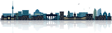 Berlin skyline Stock Vector - 78900201