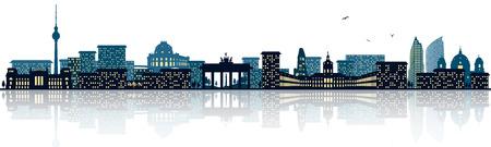 Berlin skyline Illustration