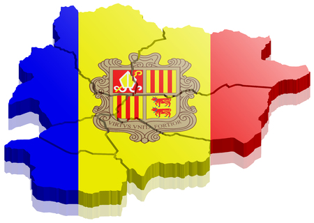 Andorra map 3d Illustration