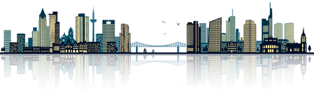 Frankfurt skyline Illustration
