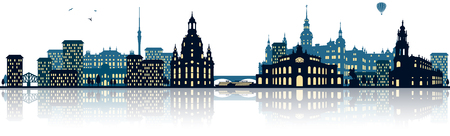 city lights: Dresden skyline