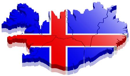 Mapa de Islandia 3d Foto de archivo - 78900263
