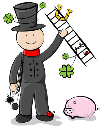 New year chimney sweeper vector