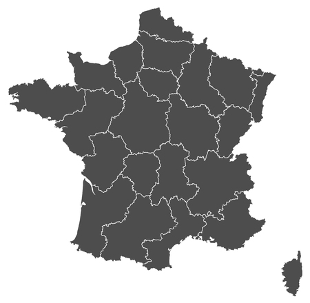 corsica: france map