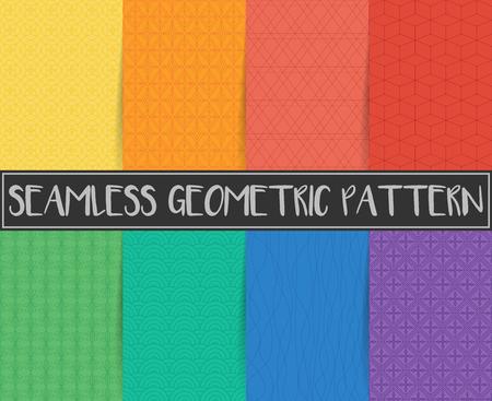 seamless geometric pattern background Illustration