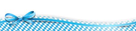 Oktoberfest bavarian banner Illustration
