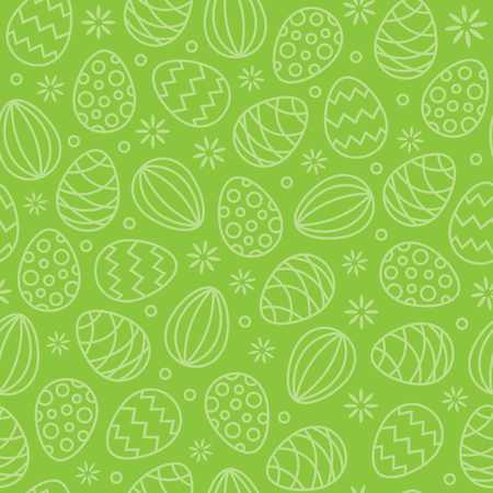 seamless easter eggs pattern background green