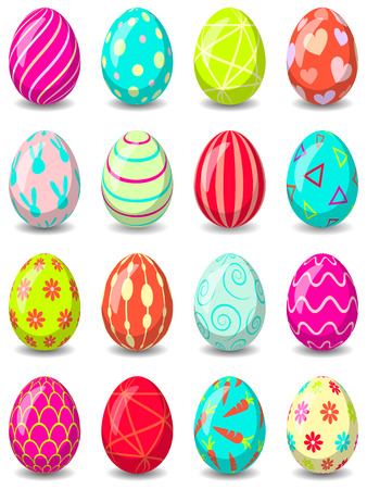 Easter eggs set isolated