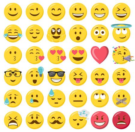 ensemble de vecteurs émoticônes smileys