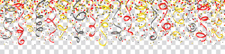 Confetti and streamers Germany flag colors isolated