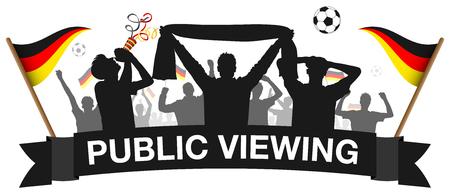 Soccer 2018 fan silhouette silhouette germany public viewing