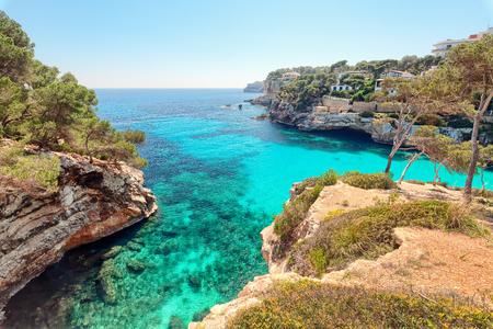 Cala Santanyi, Majorca, Spain Imagens