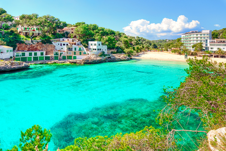 Mallorca Cala Santanyi beach Spain Imagens