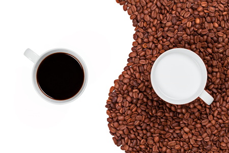 Yin and Yang coffee black and white