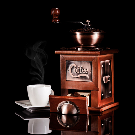 coffee grinder with espresso cup