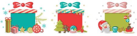 Christmas gift boxes decoration illustration vector isolated