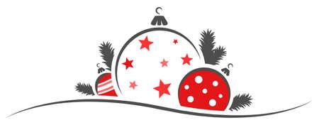 Christmas balls decoration ornament modern isolated
