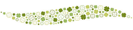 Clover decoration wave form illustration vector isolated 矢量图像