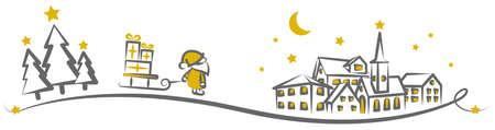 Happy Halloween pumpkin silhouette banner background illustration vector 矢量图像