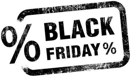 Black Friday Sale Label Stamp Grunge Sign Illustration Isolated