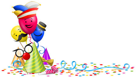 Carnival party decoration illustration isolated