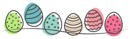 Colorful easter egg drawing illustration vector isolated 矢量图像