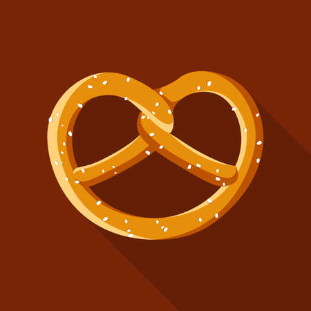 Soft pretzel food oktoberfest octoberfest icon symbol flat design vector
