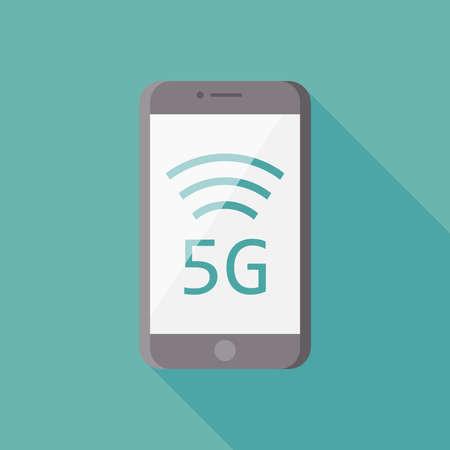 5G icon symbol flat design