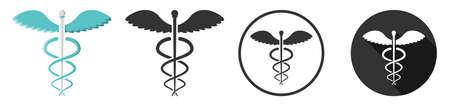 Caduceus medical medicine symbol sign icon flat design