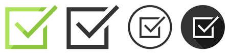 Check mark box icon symbol vector flat design