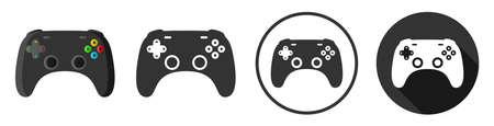 Gaming controller icon symbol set illustration isolated