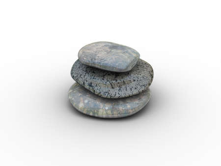 3d rendered image of 3 different, polished stones. Highly detailed. Stock Photo - 325954