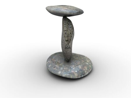 tripple: 3d rendered image of 3 different, polished stones. Highly detailed.
