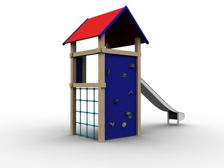 3d image of a playhouse for children. photo