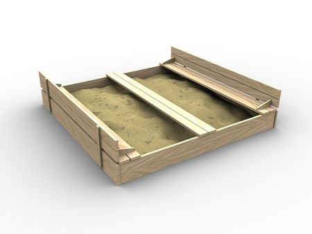 the sandbox: 3d image of a sandbox.