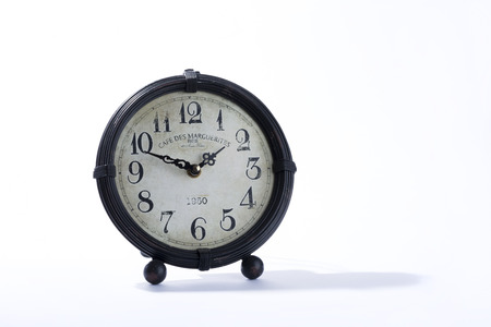 marqueteria: reloj de fondo blanco viejo