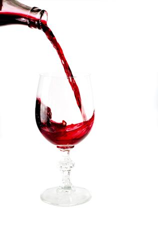 effusion: Pouring wine Stock Photo