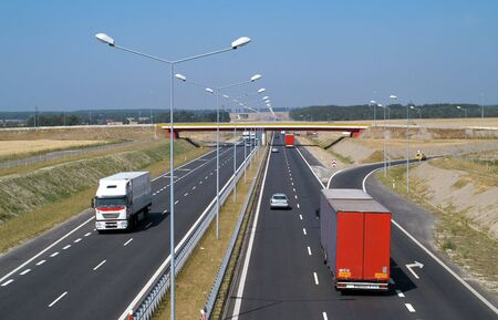 cracow: Highway A4 Breslau Cracow in Poland Stock Photo