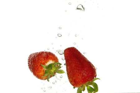 Strawberry splash photo