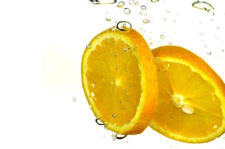 orange slice: Orange slice spatten